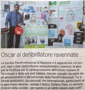 Oscar al defibrillatore della PaceProfessional scelto dall'IIT