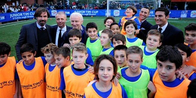 Trapattoni, Zanetti, Galli e Rizzoli battezzano la Junior Tim Cup 2014-15