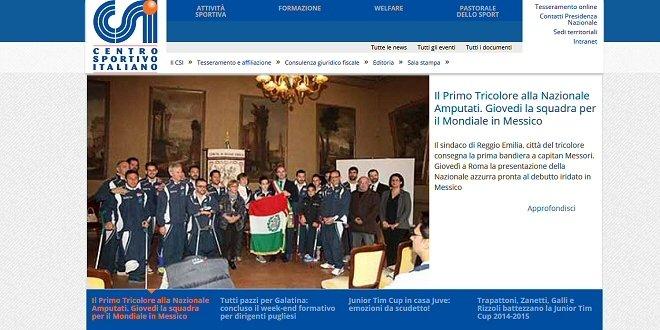 Il CSI nazionale inaugura il nuovo sito internet