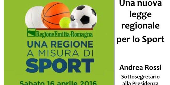 """Disponibili le slide dell'incontro regionale """"Una Regione a misura di sport"""""""